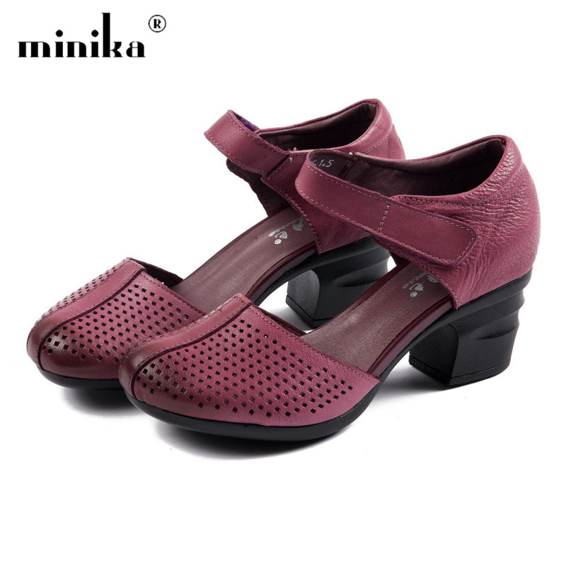 New High Heels Gladiator Sandals Women Genuine Leather Hollow Summer Shoes Woman Elegant Ladies Wedges Platform Sandals Mujer lenkisen genuine leather big size wedges summer shoes gladiator super high heels straw platform sweet style women sandals l45