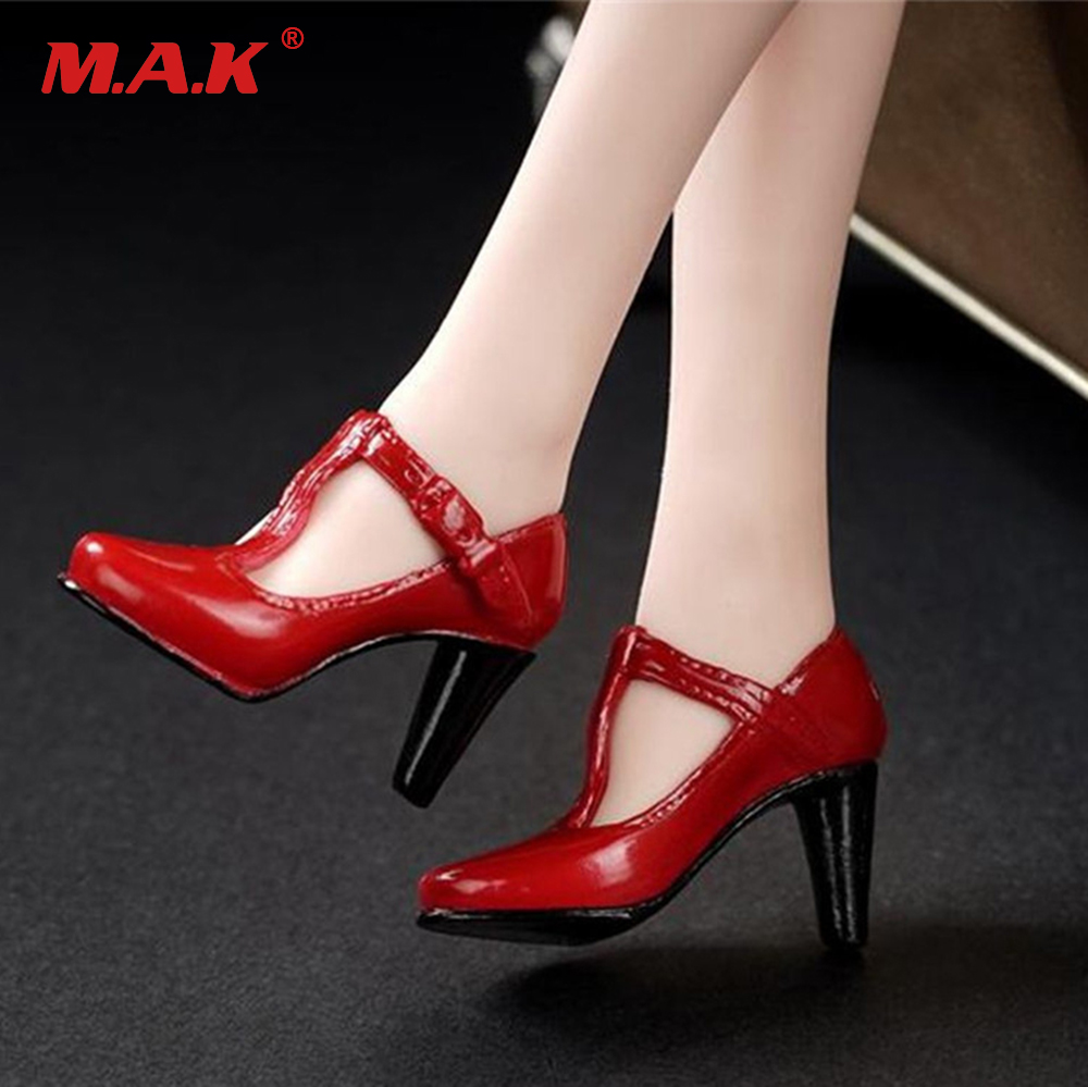 3 Colors 1/6 Female High-Heel Shoes Model Without Feet Red/Black/Grey For HT PH Body Figures
