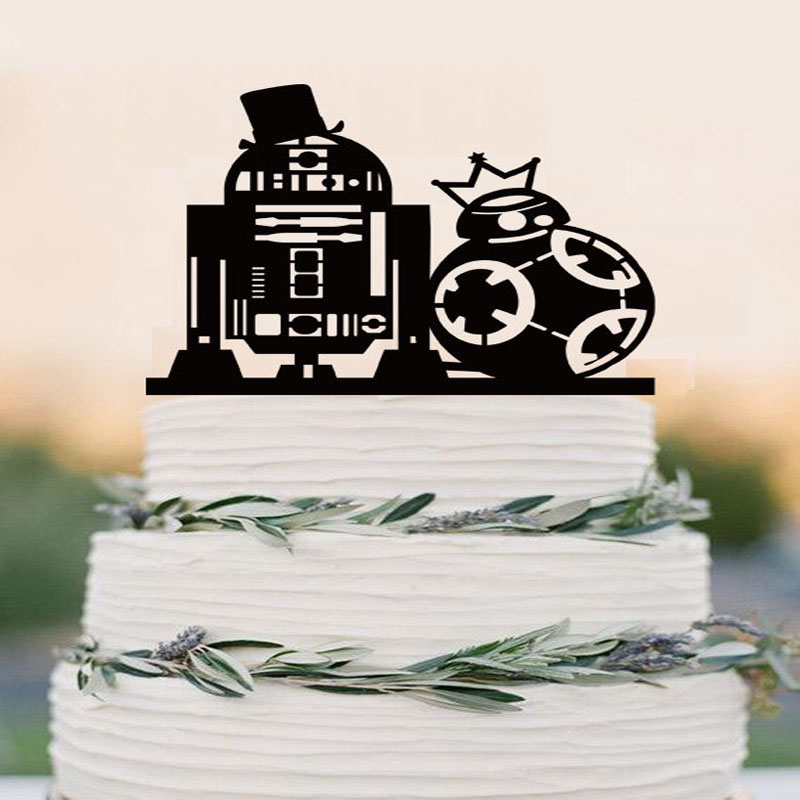 r2d2 and bb8 wedding cake topper war cake topper r2d2 bb8 cake topper wedding cake 18949