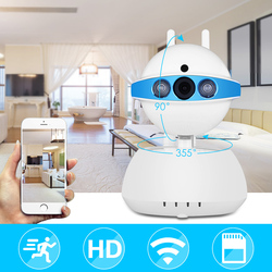 Security Camera WiFi IP Camera Home Wireless Baby/Pet Camera With Two-Way Audio CCTV Camera For iOS/Android Pan Tilt Zoom