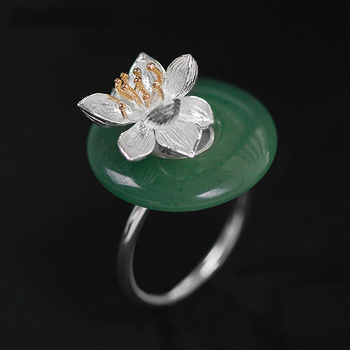 Jade Silver 925 Women Ring5