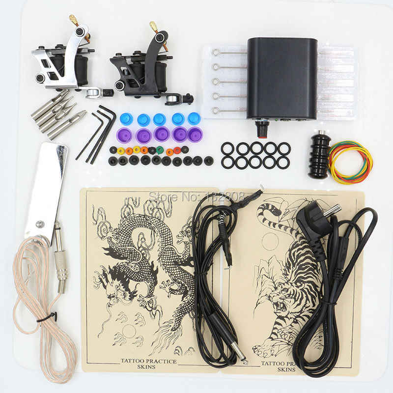 Hot Selling 1 Set Professionele Body Tattoo Machine Voeding Tattoo Apparatuur Tattoo Kit Voor Tattoo Beginner Gratis Verzending