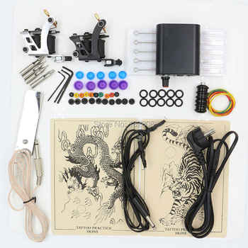 Hot Selling 1 Set Professional Body Tattoo Machine Power Supply Tattoo Equipment Tattoo Kit For Tattoo Beginner Free Shipping - DISCOUNT ITEM  10 OFF Beauty & Health