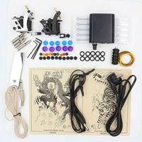 Hot Selling 1 Set Professional Body Tattoo Machine Power Supply Tattoo Equipment Tattoo Kit For Tattoo Beginner Free Shipping