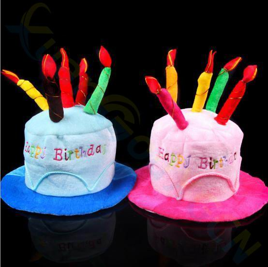 Halloween Christmas Decoration Adult Kids Birthday Caps Hat With Cake Candles Festival Birthday Party Costume Headwear