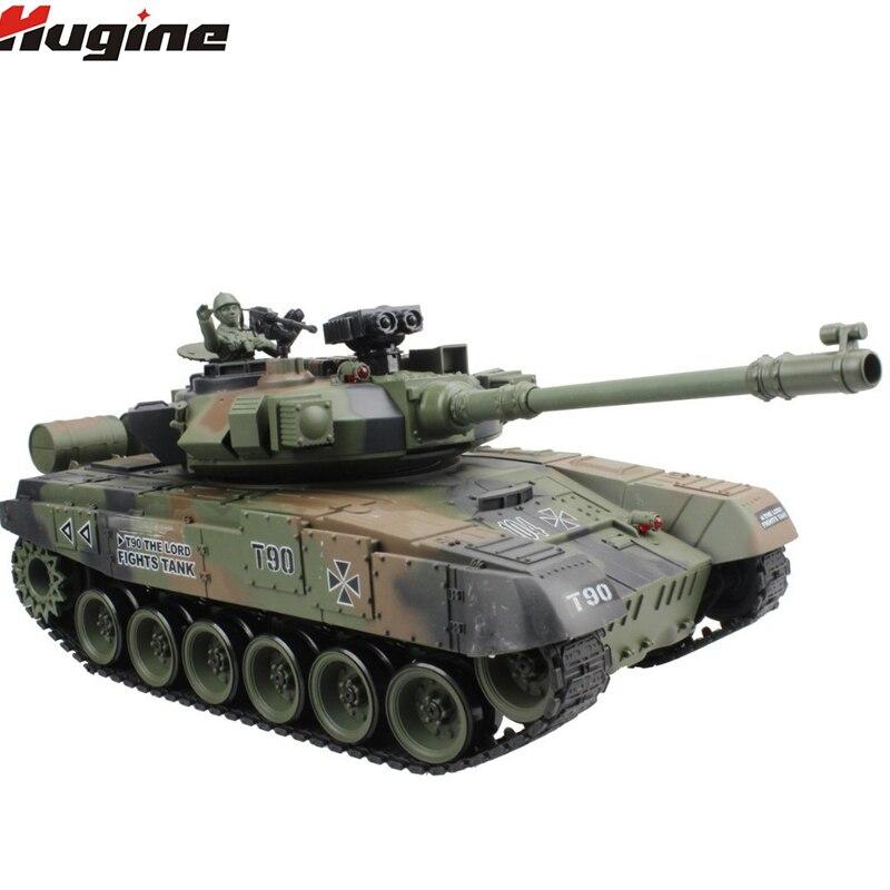 Réservoir RC russe T-90 réservoir de bataille principal modèle 15 canaux 1/20 avec son et tir balle effet recul modèle de réservoir jouet électronique