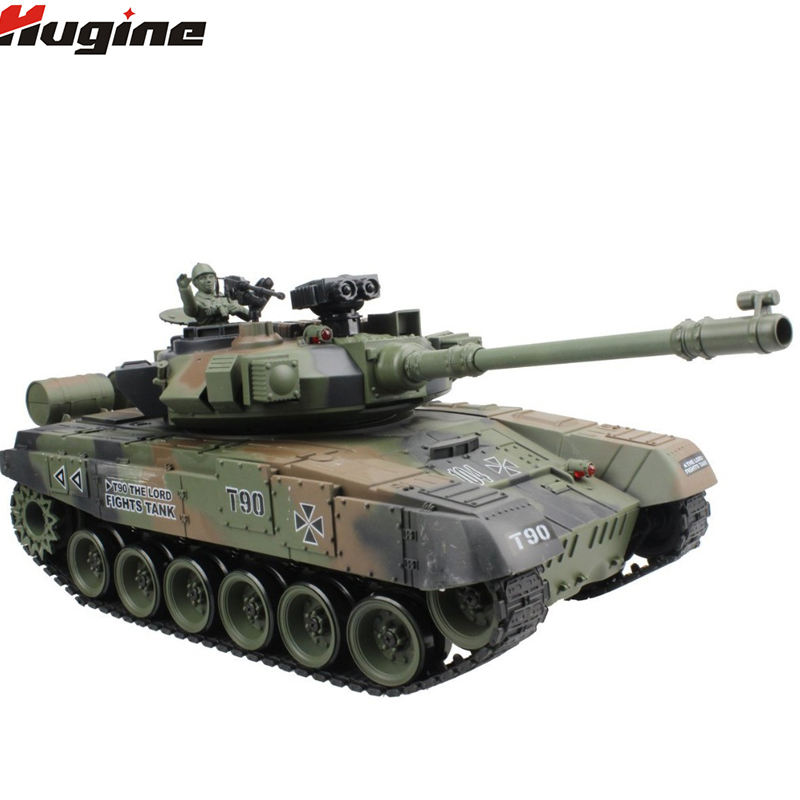 RC Réservoir Russe T-90 Principal Char de Combat 15 Canal 1/20 Modèle Avec Son et Tirer Balle Effet de Recul Réservoir Modèle électronique Jouet