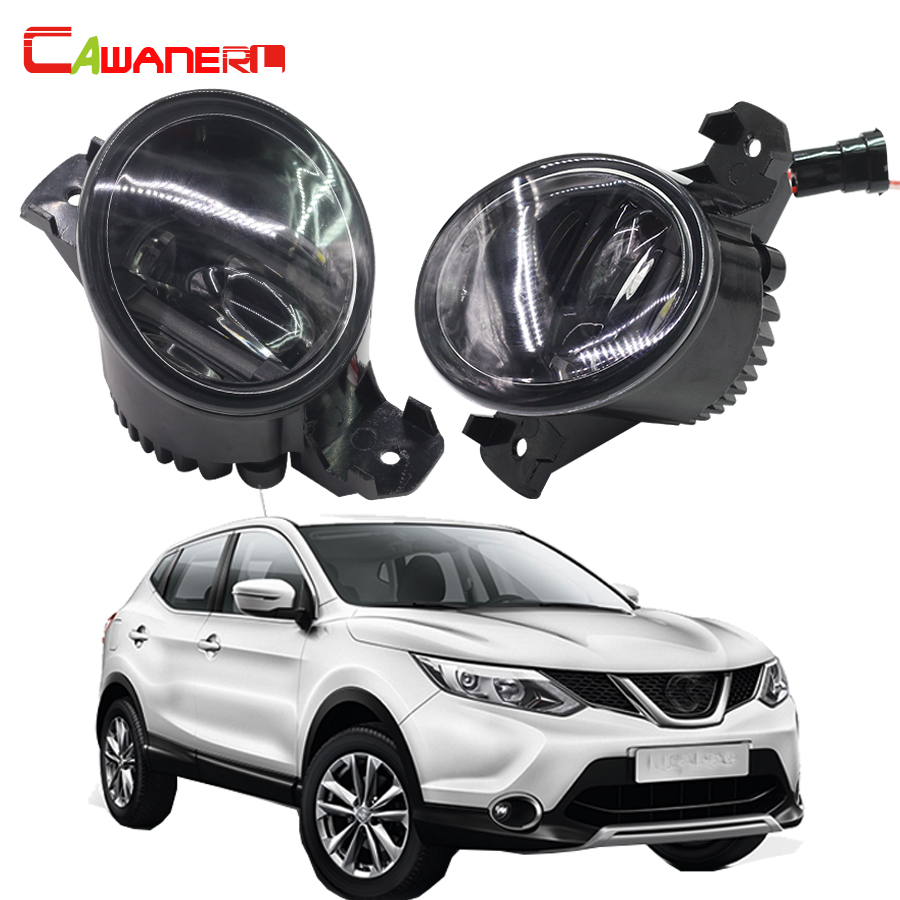 Cawanerl 2 Pieces Car Styling Fog Light LED DRL Daytime Running Lamp For 2007-2012 Nissan Qashqai / Qashqai +2 (J10, JJ10) cawanerl for toyota highlander 2008 2012 car styling left right fog light led drl daytime running lamp white 12v 2 pieces