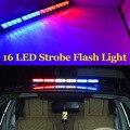 16 LED auto LED strip lámpara semáforo stick de alta calidad barra de blub de la lámpara luz de advertencia strobe policía luz de flash de alta potencia