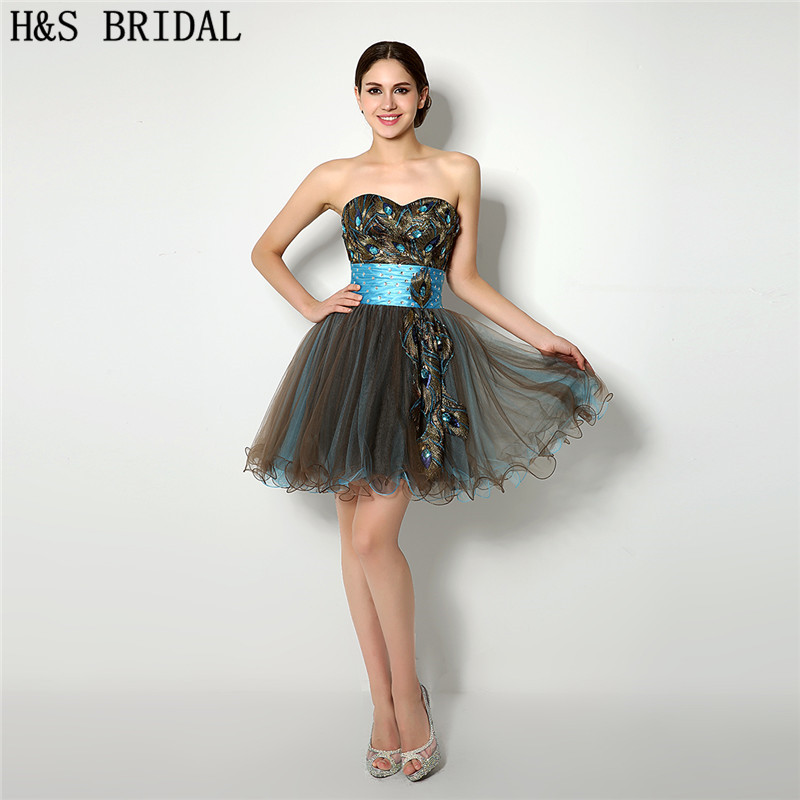 H&S BRIDAL Sweetheart Embroidered Applique   cocktail     dresses   Crystal Beaded Tulle   cocktail     dress   2019 robe de   cocktail