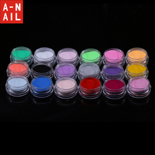 18boxes/set 18 Colors Acrylic Glitter Powder Liquid Nail Glitter Dust Gem Nail Tool Excellent UV Gel Glitter Nail art decoration