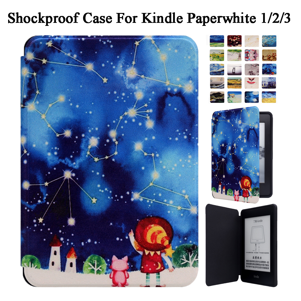 Smart Case Cover For Amazon Kindle Paperwhite 1/2/3 2013 2015 2016 2017 Shockproof With Magnetic Auto Sleep/Wake tablets case protective black magnetic auto sleep leather cover case for amazon kindle paperwhite 1 2