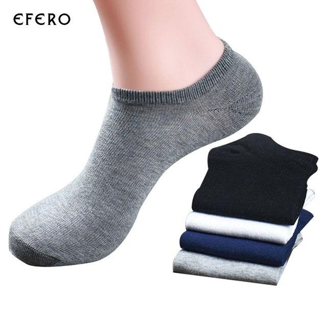 ec9f520ff 1Pair Classic Business Men's short Socks Solid Color Mens Dress Socks  Chaussettes Hommes Low Cut No