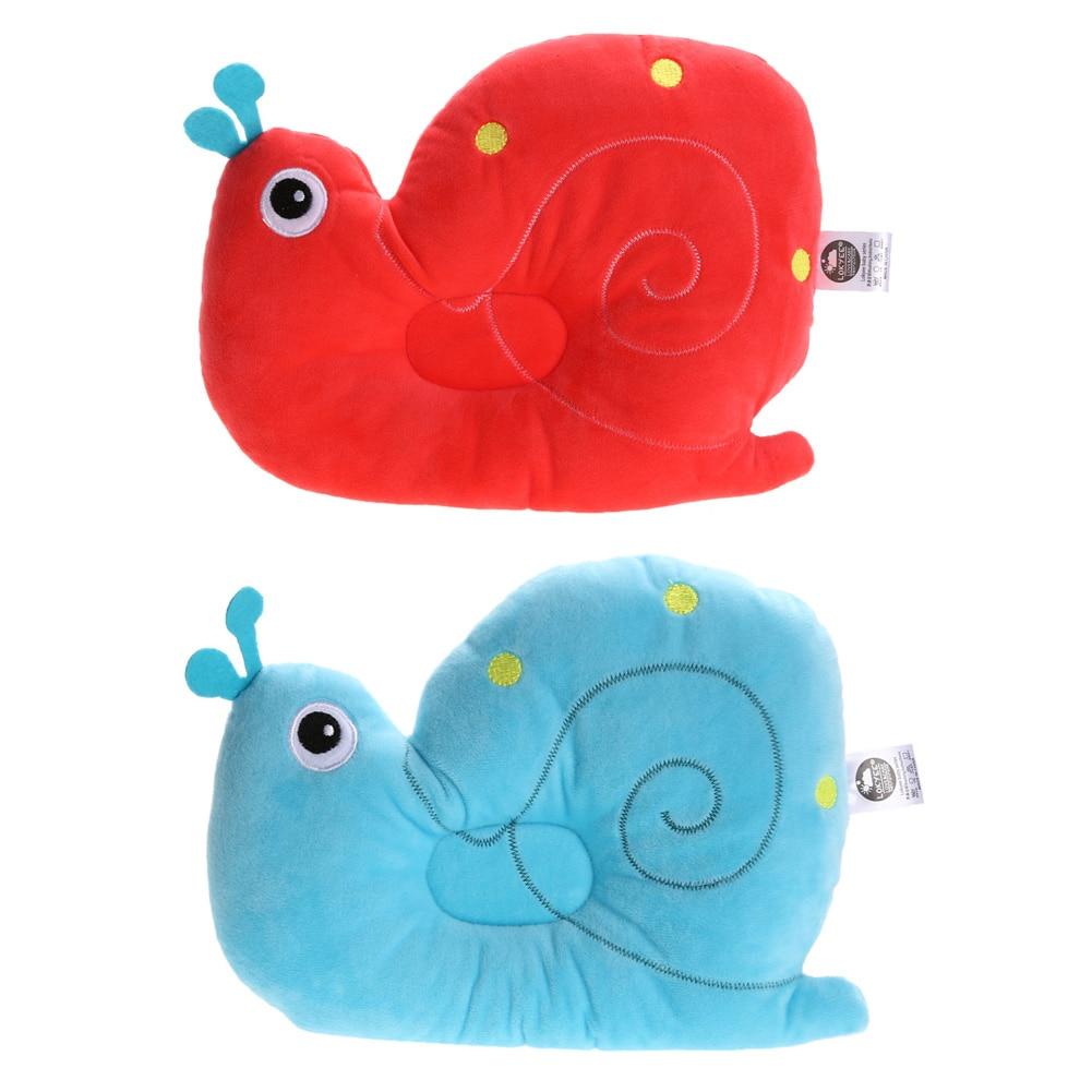 Cute Baby Pillow Newborn Infant Bedding Snail Figure Prevent Flat Head Pillow Soft Sleeping Positioner Head