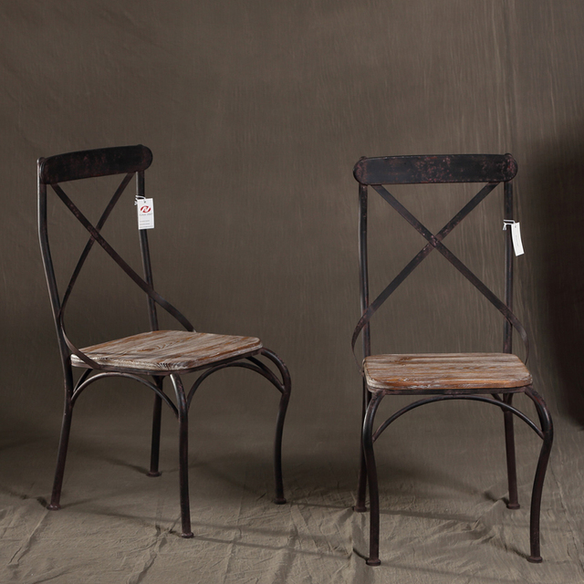 Long Emperor American Retro To Do The Old Wrought Iron Chairs And Leisure  Office Coffee Bar