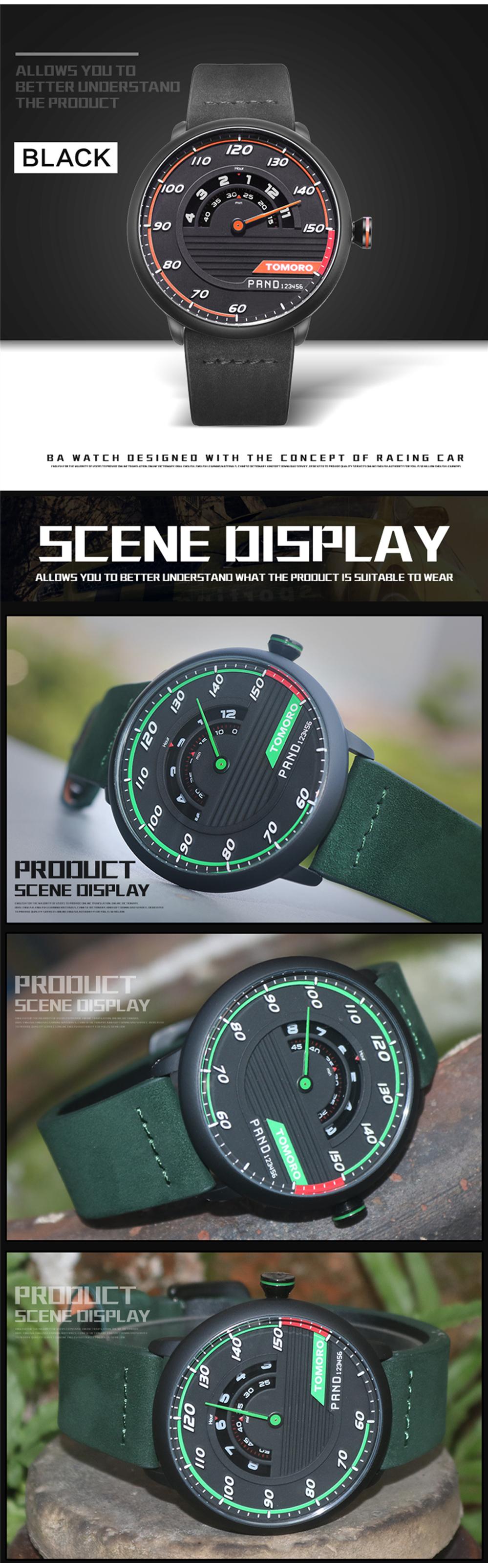 HTB1fDXbQVXXXXc9XFXXq6xXFXXXV TOMORO Men's Unique Racing Car 3D Design Wrist Watch