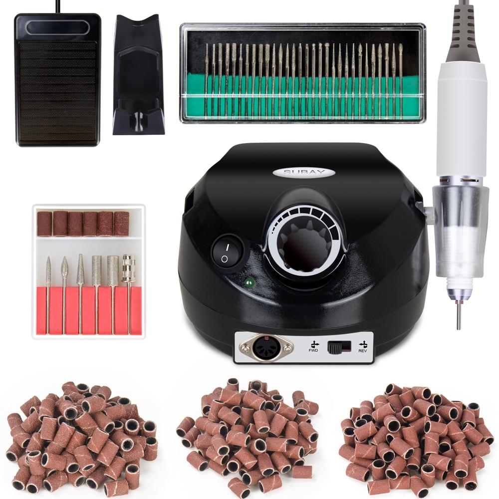 Upgraded version EU/US plug 30000RPM Nail Drill Machine tools set including Sanding Bands,Drill Bits Manicure Kit nail tools set
