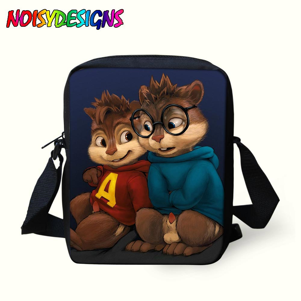 b482b5e38995 Элвин и бурундуки сумка малыш Сумки курьерские Сумки Обувь для мальчиков  девочек через плечо школьный ранец