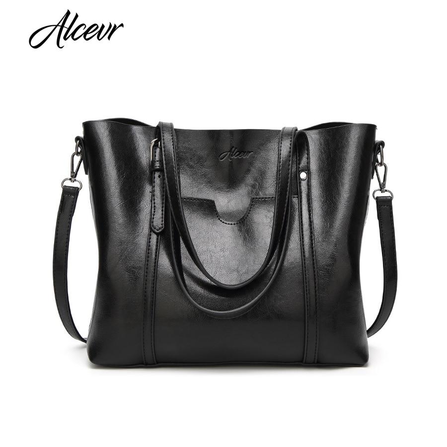 все цены на ALCEVR Women Bag Luxury Handbags Outlet Women Tote Shoulder Bag Soft Leather High Capacity Vintage Designer Handbag Famous Brand