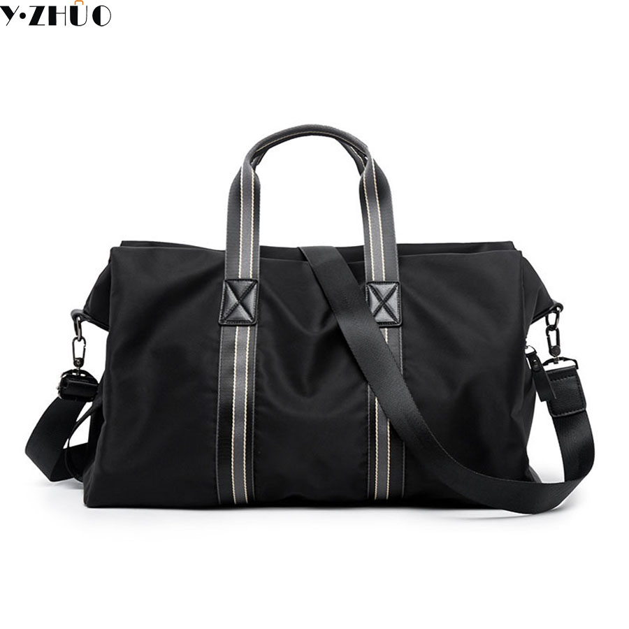 Y ZHUO men travel bag nylon waterproof black large capacity handbags messenger bags folding men crossbody shoulder duffel bags цена