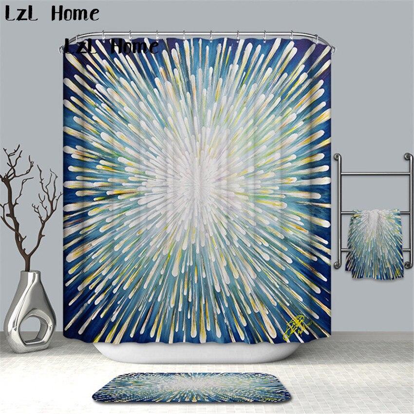 LzL Home New Creative Stone Footprint World Map Shower Curtain Waterproof Polyester Bathroom Product Bathroom Curtain Home Decor zwbra shower curtain