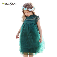 Baby Girls Summer Lace Tutu Green Dress Children Kids 2019 N