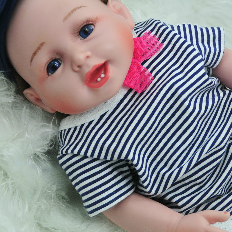52cm Reborn Baby Doll Full Body Silicone Vinyl Lifelike Baby Girl Kid Bebe Reborn Dolls Christmas New Year Birthday Gifts christmas gifts in europe and america early education full body silicone doll reborn babies brinquedo lifelike rb16 11h10