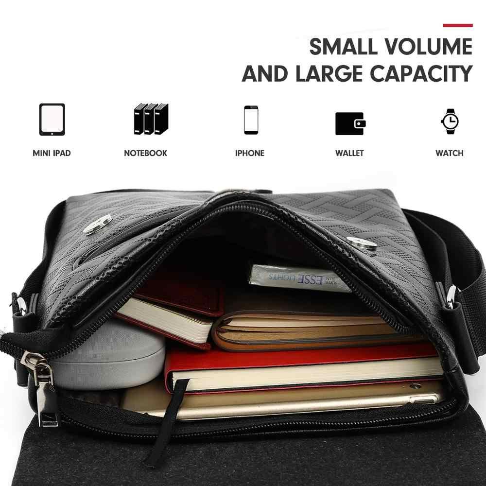 Vicuna Polo Nieuwe Aankomst Plaid Lederen Mannen Schoudertas Merk Zakelijke Mannen Messenger Bag Trendy Sling Side Crossbody Tas Voor mannelijke