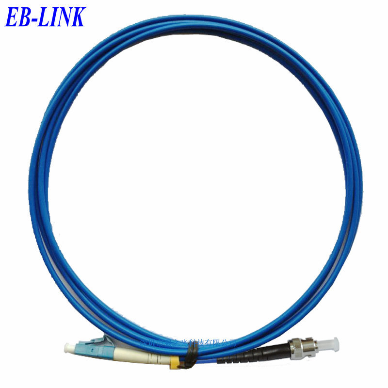 Indoor Armored 50Meters LC/PC-ST/PC,3.0mm,Singlemode 9/125,Simplex, Optical Fiber Patch Cord Cable,LC to STIndoor Armored 50Meters LC/PC-ST/PC,3.0mm,Singlemode 9/125,Simplex, Optical Fiber Patch Cord Cable,LC to ST