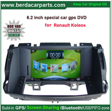 6.2 inch Wince 6.0 Car GPS Navigation for Renault Koleos Video Player with Bluetooth Keep original Radio of the car