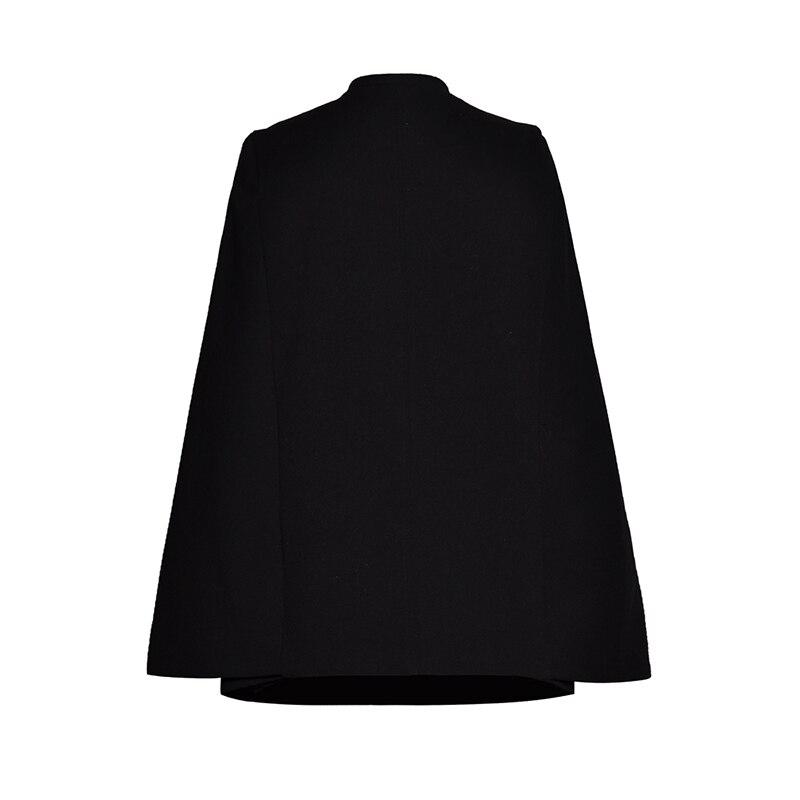 Manteau Cape Double Chauve Qualité souris Manches De Designer À Femmes Haute Boutonnage Piste qS1WTH