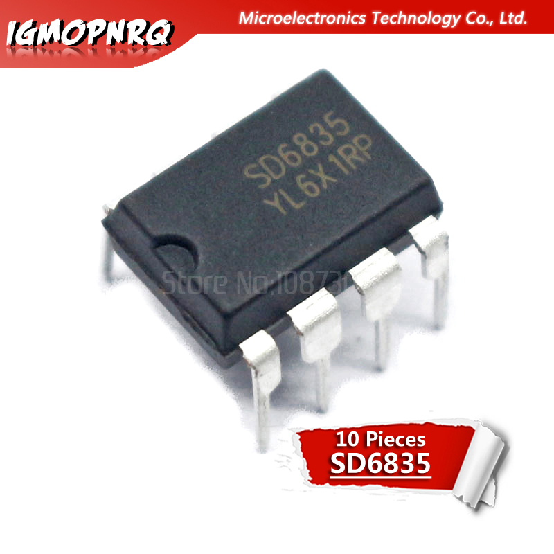 10pcs SD6835 New Original Management Chip DIP-8 In Stock