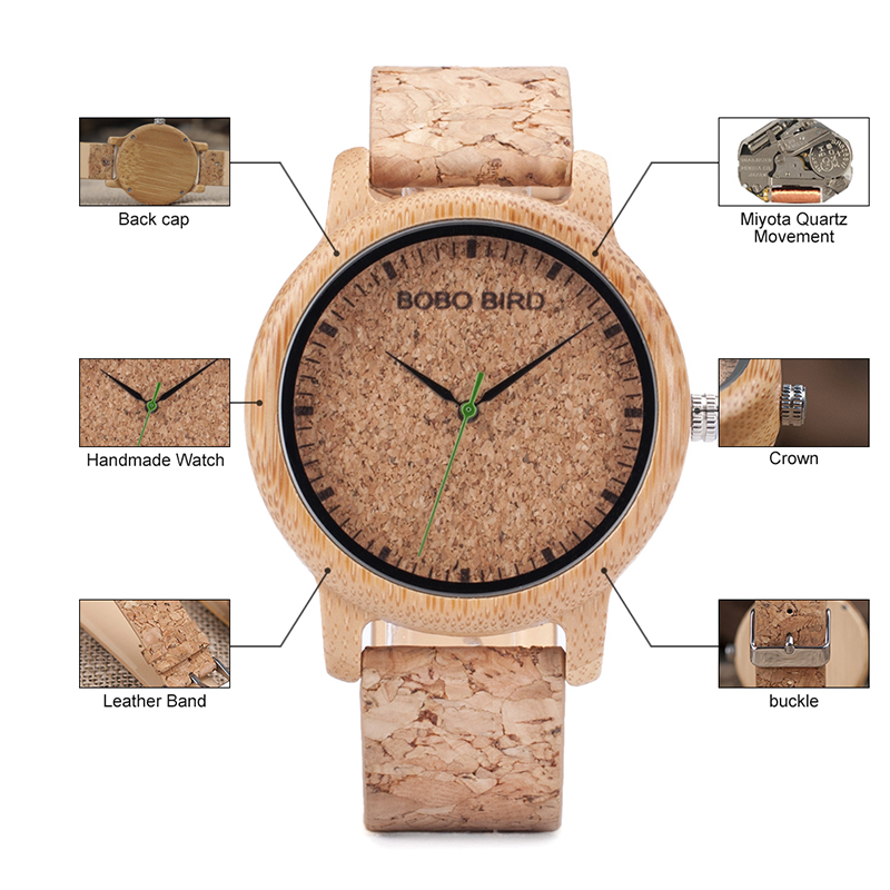 wooden wristwatches for men and women bobo bird mens watches (18)