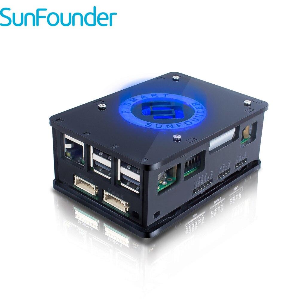 SunFounder Raspberry Pi Kit Robô Pismart 3 Caixa de Controle de Reconhecimento de Fala de Condução 8 3 2 Servos Motores com Raspberry Pi