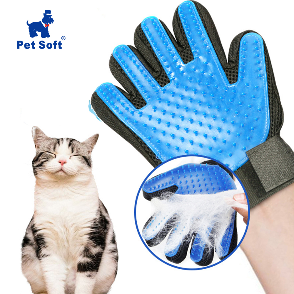 Pet Soft Silicone Dog Pet brush Glove Grooming Brush Pet Grooming Glove Cat Bath Cat cleaning Supplies Pet Glove Cat combs