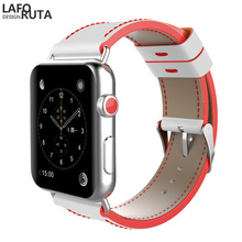 Laforuta Quality Leather Watchband For Apple Watch Band  44mm 42mm 40mm 38mm iWatch Series 4 Strap Women Men Bracelet Loop