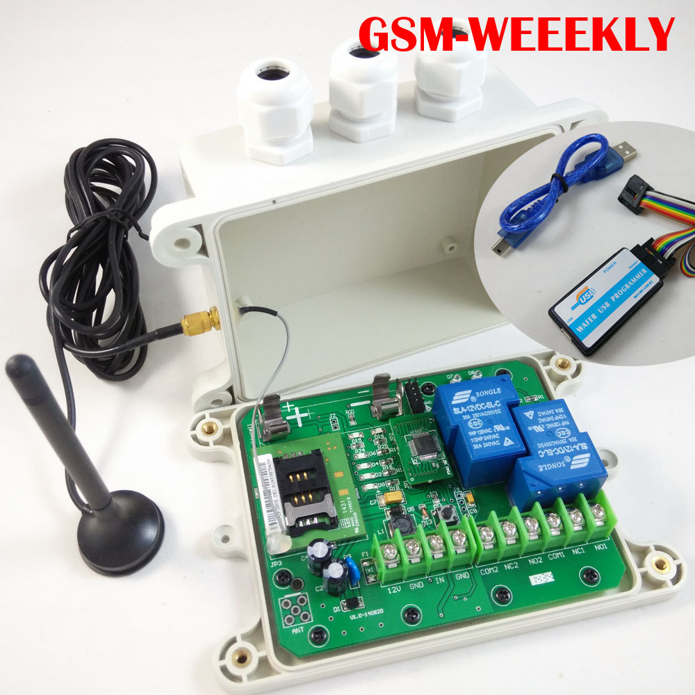 GSM Remote relay switch, 16 segment timer for automatically output working ( Battery on board for power off alarm) цена