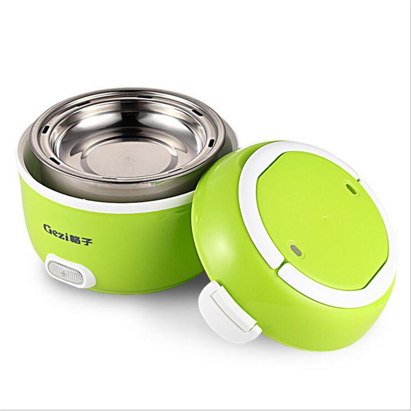 1.2L Mini Portable Lunch Box Two Layers Electric Multi-function Heating Rice Cooker Student Office worker 110v 220v dual voltage travel cooker portable mini electric rice cooking machine hotel student multi stainless steel cookers