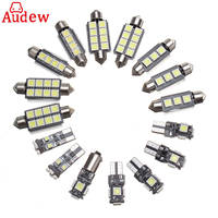 20pcs White Canbus Car Interior Lamp LED Light Kit For Audi A4 S4 B8 Avant 2009