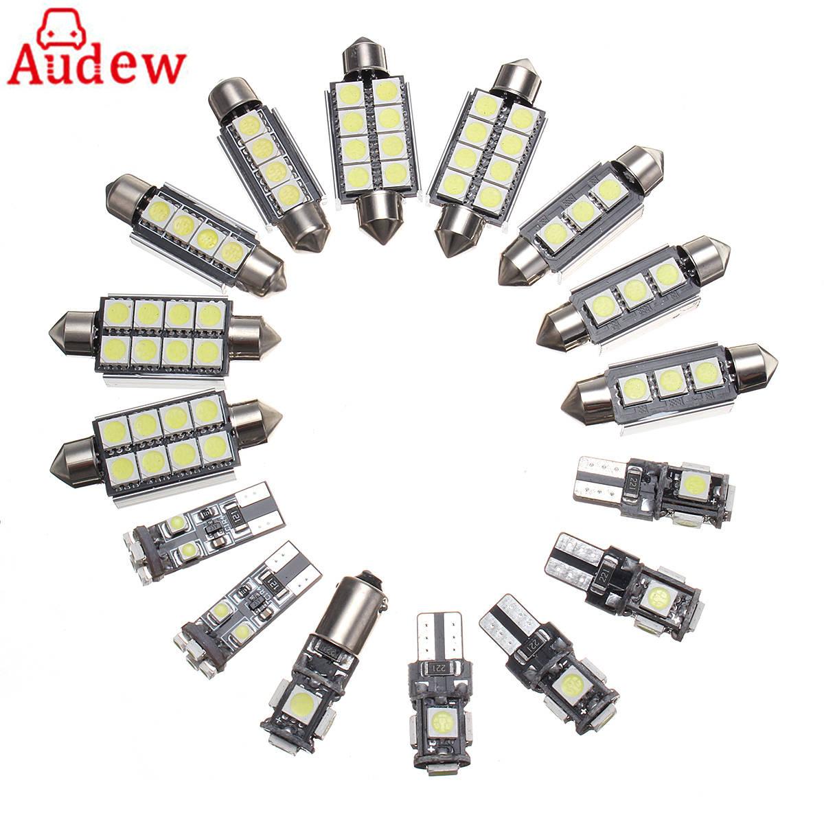 20pcs white canbus Car Interior font b lamp b font LED Light Kit for Audi A4