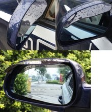 2 x Side Window Deflectors PVC Transparent Mirror Rain Deflector T for Car