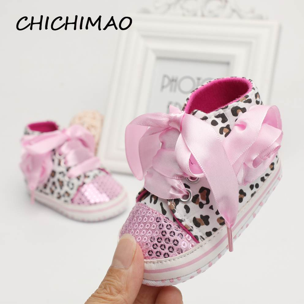 Bebes Party Baby Girl Shoes Infant Toddler Boys Shoes New Born Soft Sole Baby Shoes Leopard Canvas First Walkers Drop Shipping