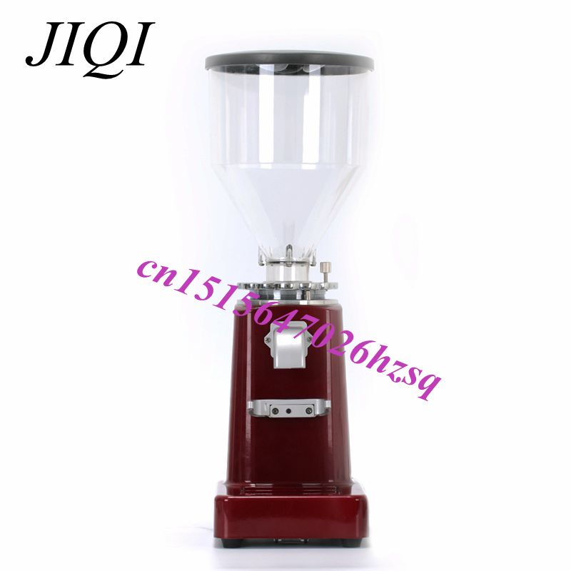 JIQI Electric Espresso Coffee Spice Grinder Maker Beans Mill Herbs Nuts Cafe Home Use Grinding 220V stainless steel electric coffee spice grinder maker beans herbs nuts cereal grains mill machine home use eu plug