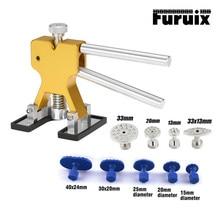 FURUIX PDR инструменты, инструменты для удаления кузова автомобиля, безболезненный инструмент для ремонта вмятин, инструмент для удаления вмятин, набор для удаления вмятин, алюминиевые вкладки