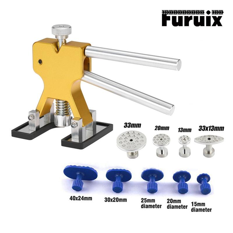 FURUIX PDR Tools Car Body Remove Tools Paintless Car Dent Repair Tool Dent Removal Dent Puller Kit Aluminum Tabs
