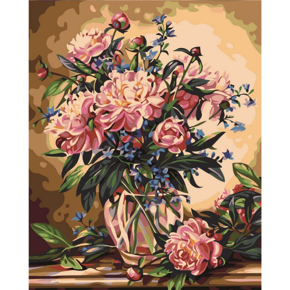 Diy Europe Flower Painting By Numbers Hand Painted Handicrafts Home