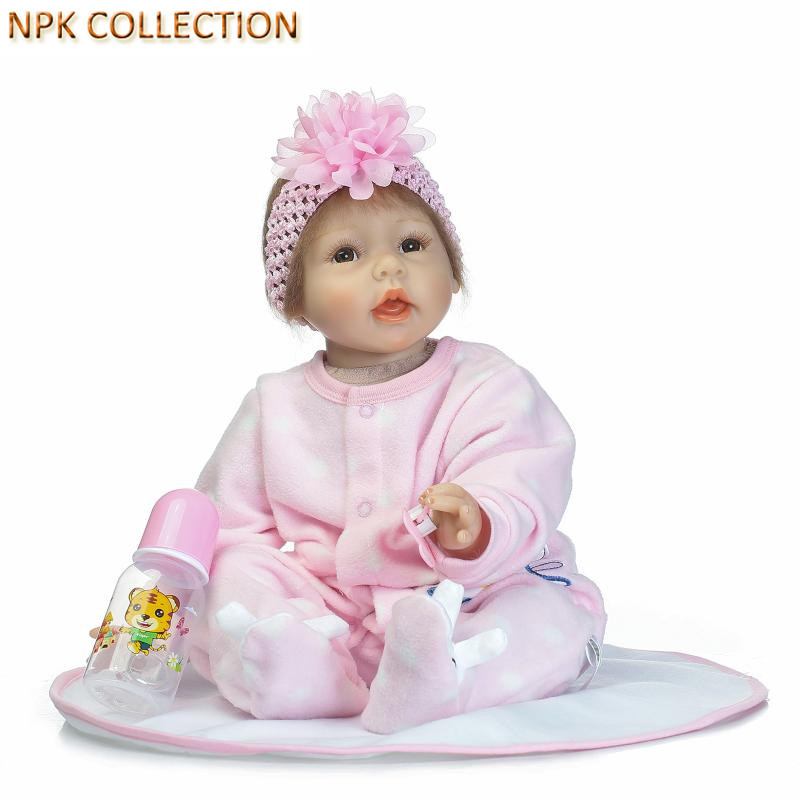 NPKCOLLECTION Silicone Reborn Dolls Baby Alive Real Dolls Soft Toys for Children Gifts,50CM Reborn Dolls Babies Boneca Juguetes that look and feel real silicone reborn dolls children s intellectual toys baby all soft glue into the water baby babies reborn