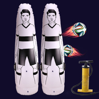 1.75m Adult Inflatable Football Training Goal Keeper Tumbler Air Soccer Train Dummy Tool PVC Inflatable Tumbler Wall