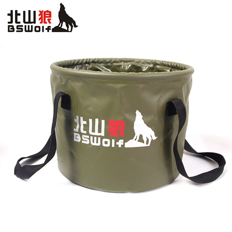 20L BSWolf Outdoor Travel Foldable Folding Camping Washbasin Basin Bucket Bowl Sink Washing <font><b>Bag</b></font> Water bucket free shipp