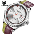 TOMORO New Casual Watch Women Fashion Dress Watches Colors Leather Quartz WristWatch For Men relogio masculino erkek kol saati